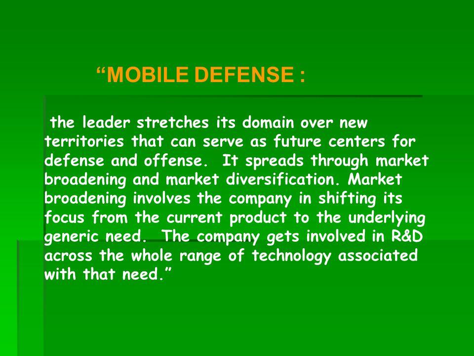 MOBILE DEFENSE :