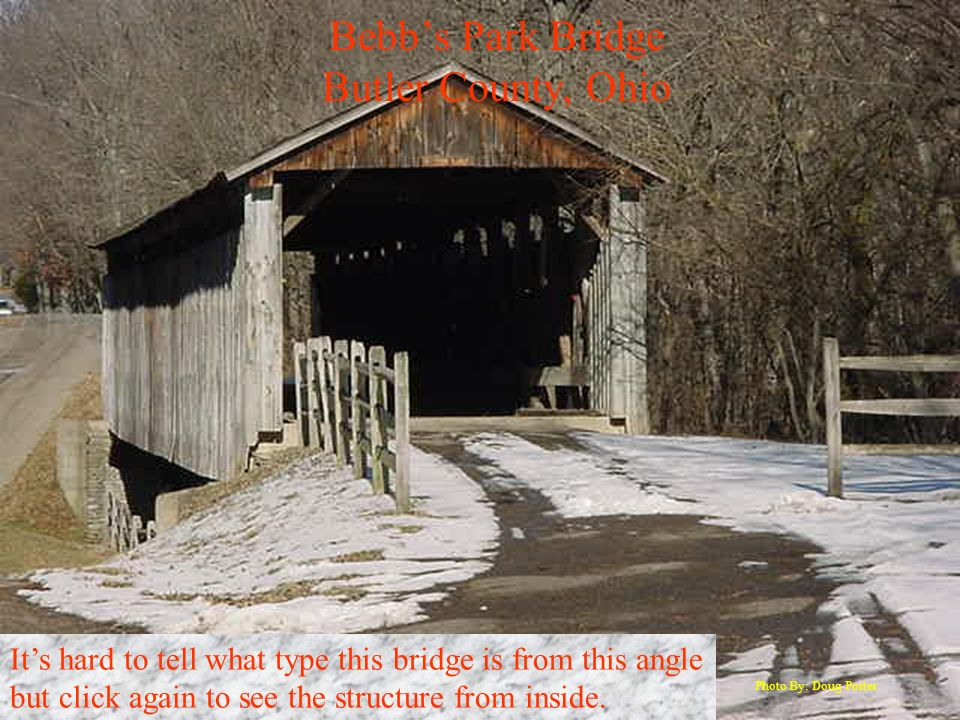Bebb's Park Bridge Butler County, Ohio