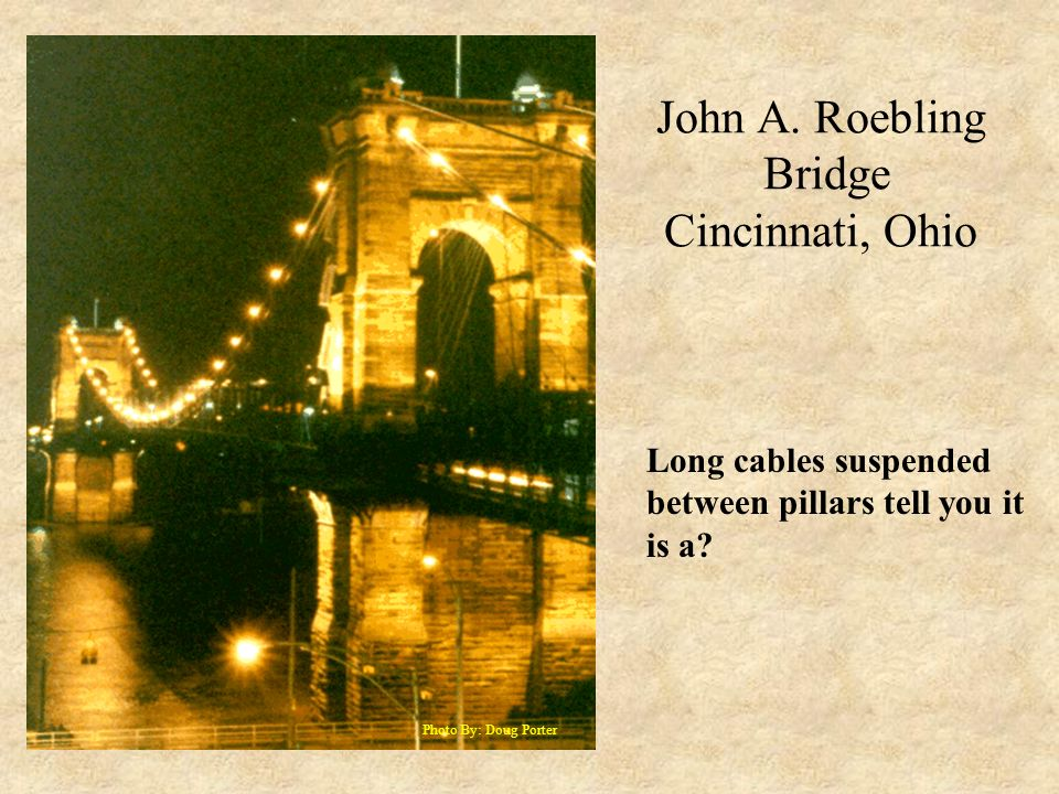 John A. Roebling Bridge Cincinnati, Ohio