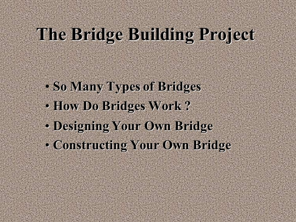 The Bridge Building Project