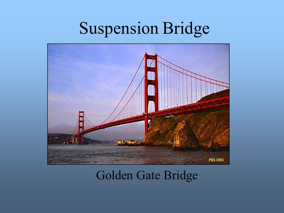 Suspension Bridge PBS.ORG PBS.ORG Golden Gate Bridge