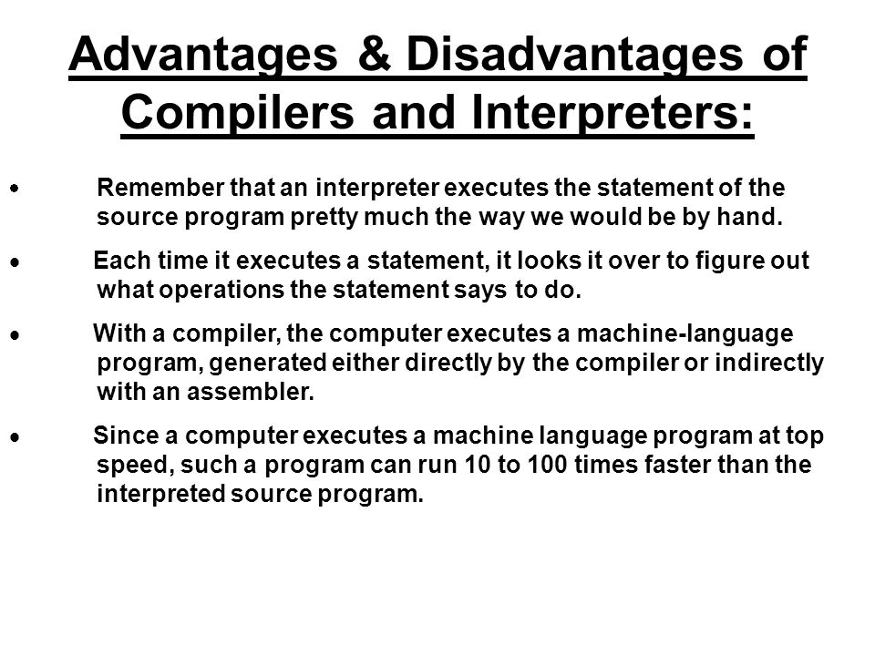 Advantage and disadvantages machine metaphor