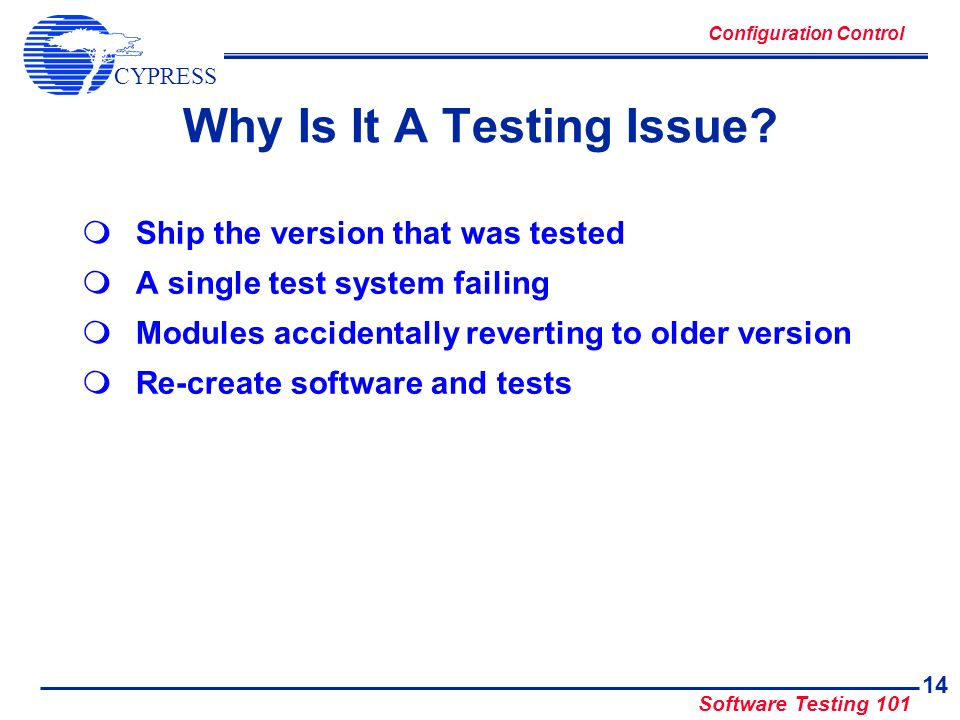 Why Is It A Testing Issue