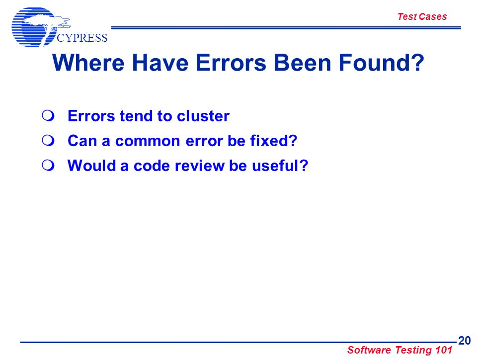 Where Have Errors Been Found