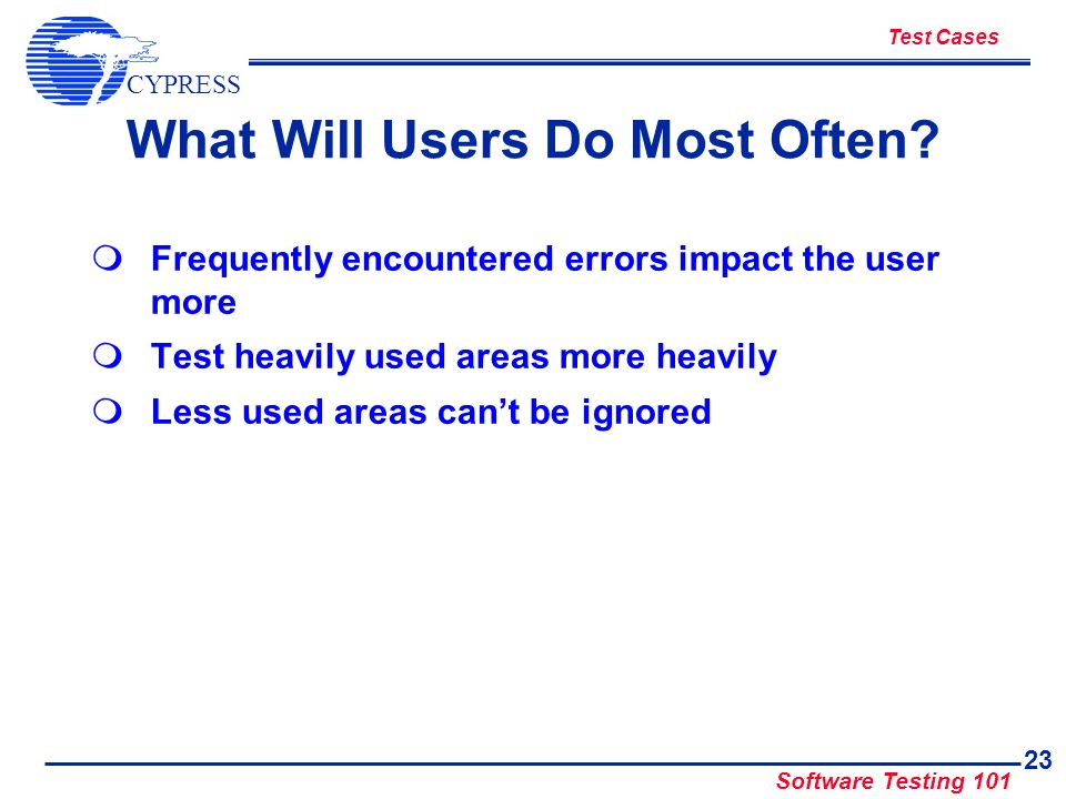 What Will Users Do Most Often