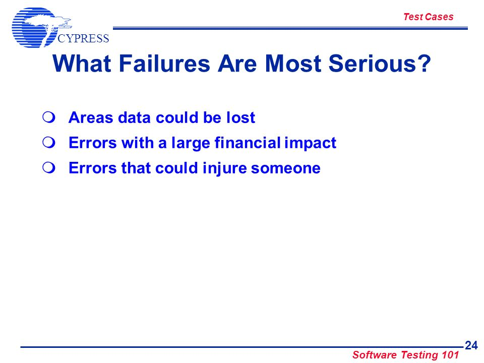 What Failures Are Most Serious
