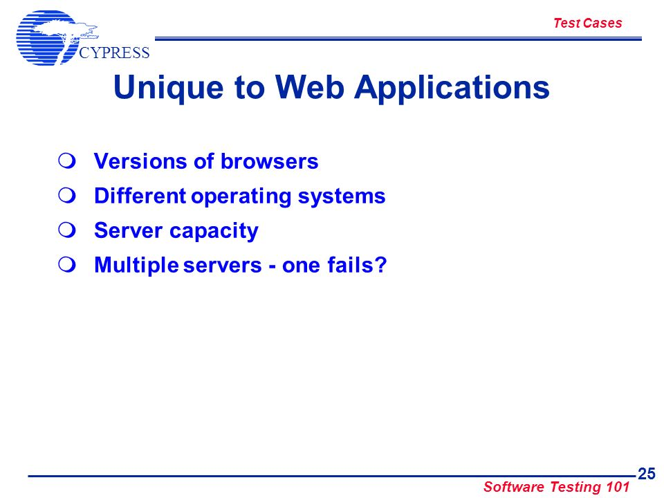 Unique to Web Applications