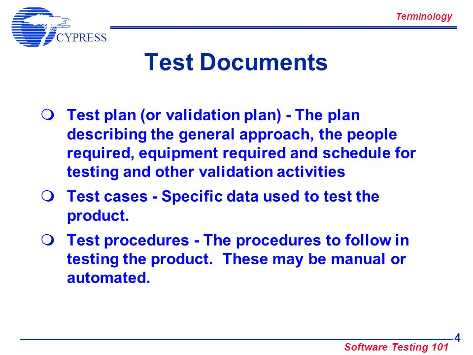 Terminology Test Documents.
