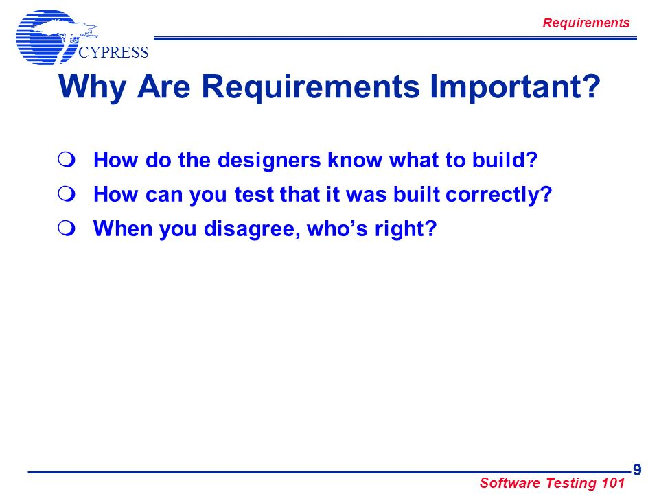 Why Are Requirements Important