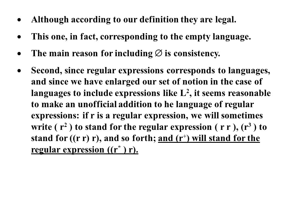 · Although according to our definition they are legal.