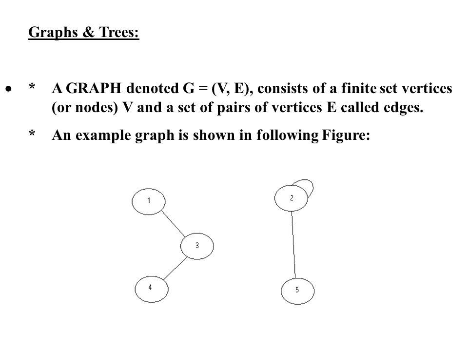 Graphs & Trees: