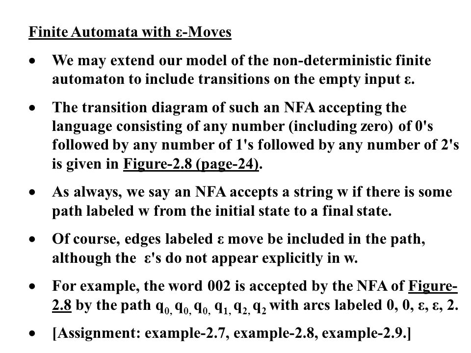 Finite Automata with ε-Moves