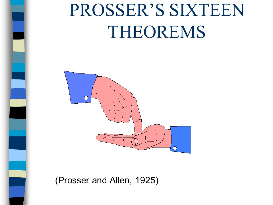 PROSSER'S SIXTEEN THEOREMS