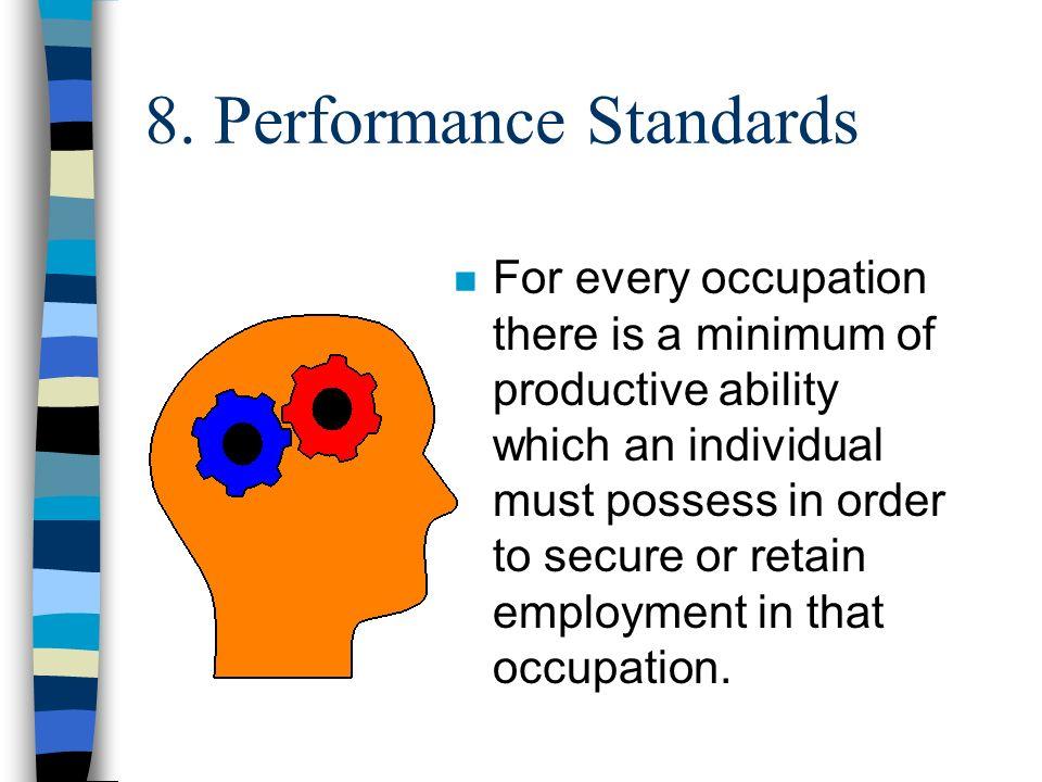 8. Performance Standards