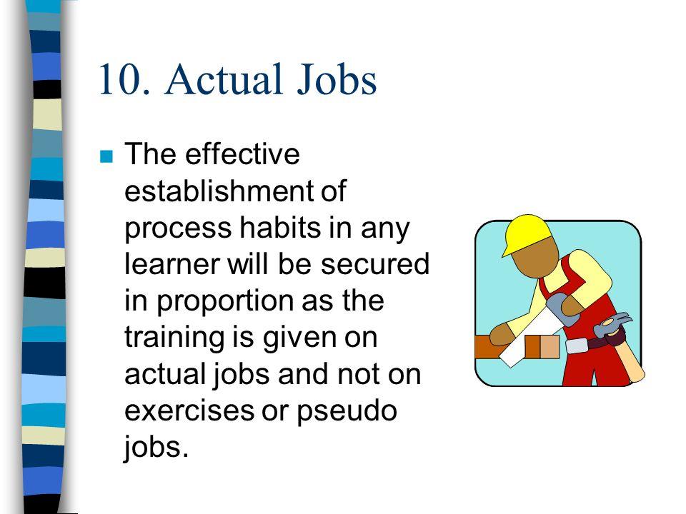 10. Actual Jobs