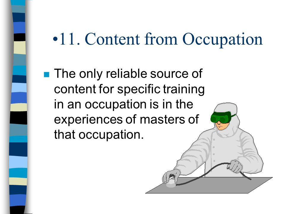 11. Content from Occupation