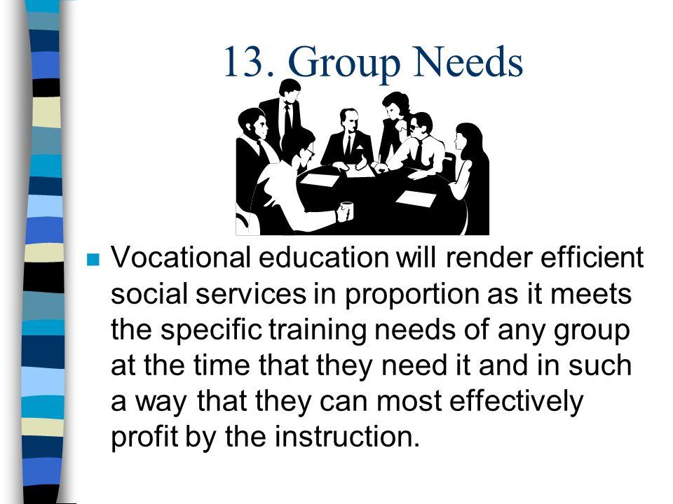 13. Group Needs
