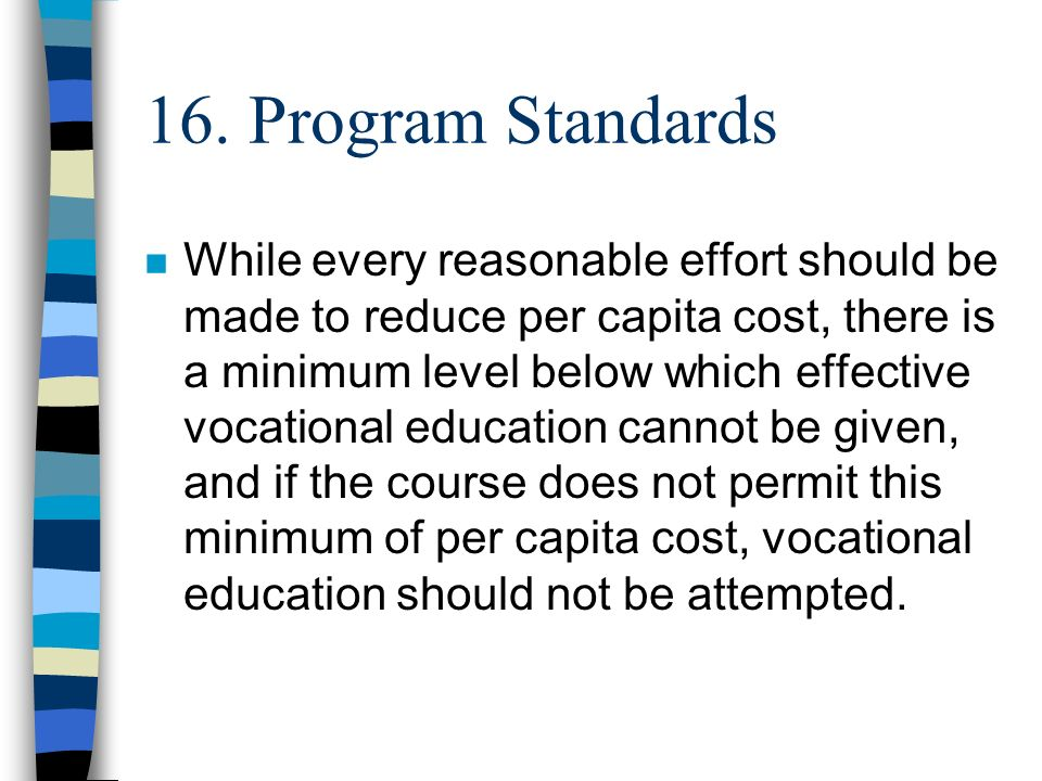 16. Program Standards