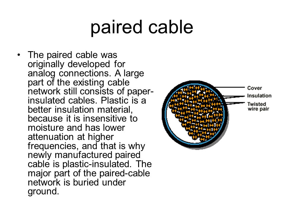 paired cable