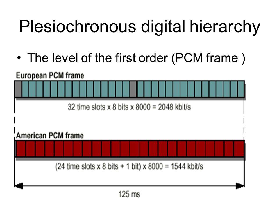 Plesiochronous digital hierarchy