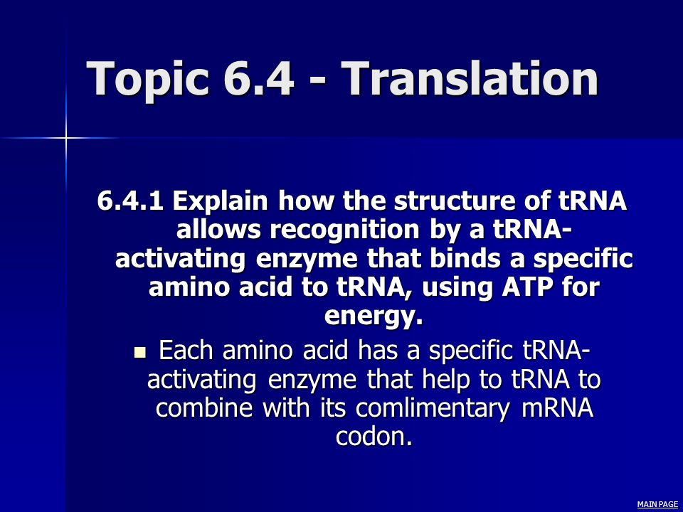 Topic 6.4 - Translation