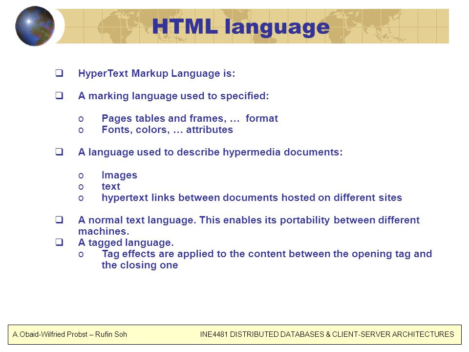 HTML language HyperText Markup Language is: