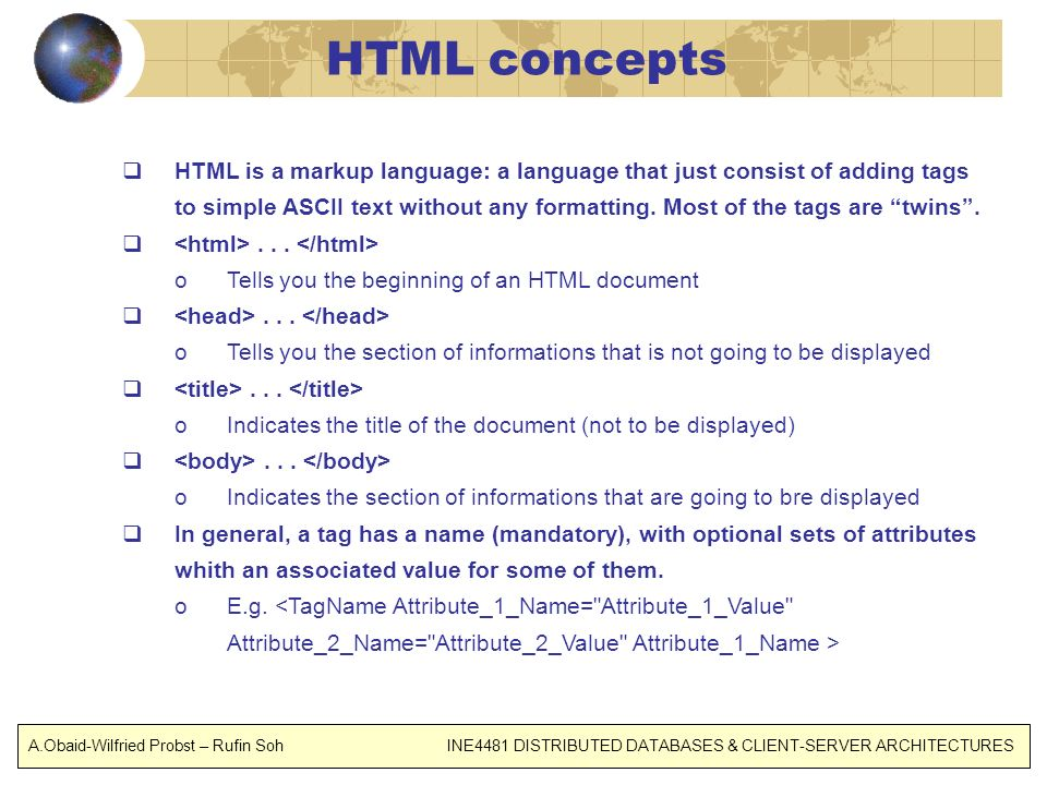 HTML concepts