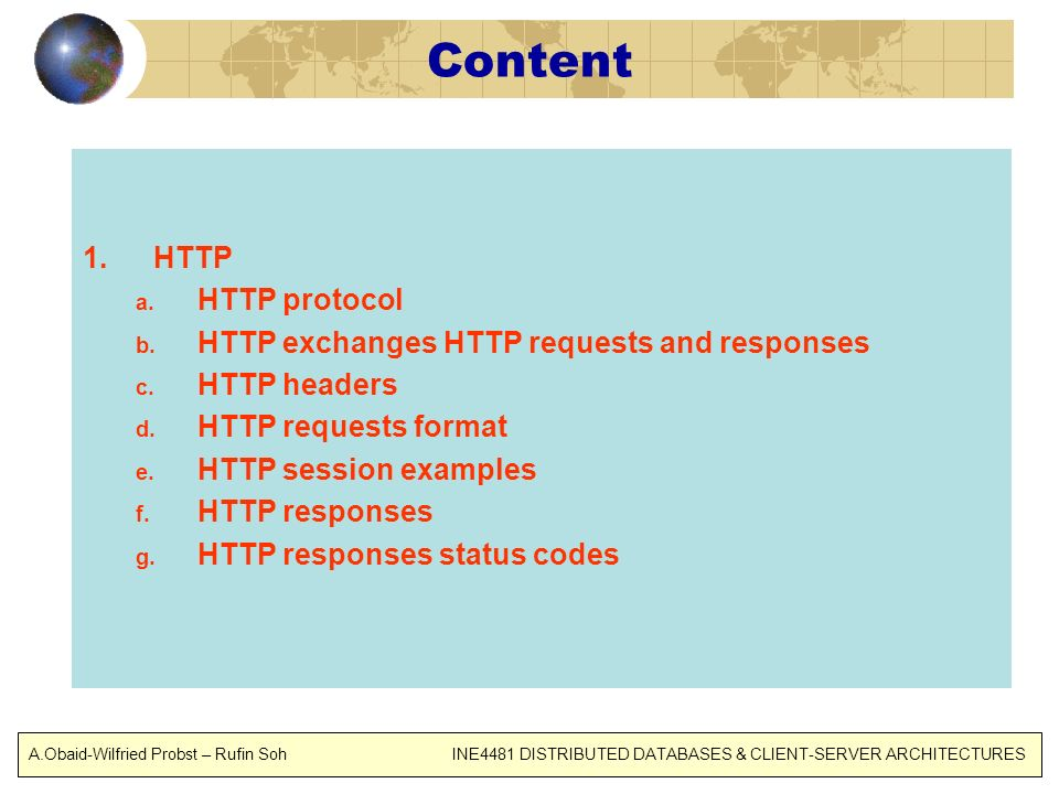 Content HTTP HTTP protocol HTTP exchanges HTTP requests and responses