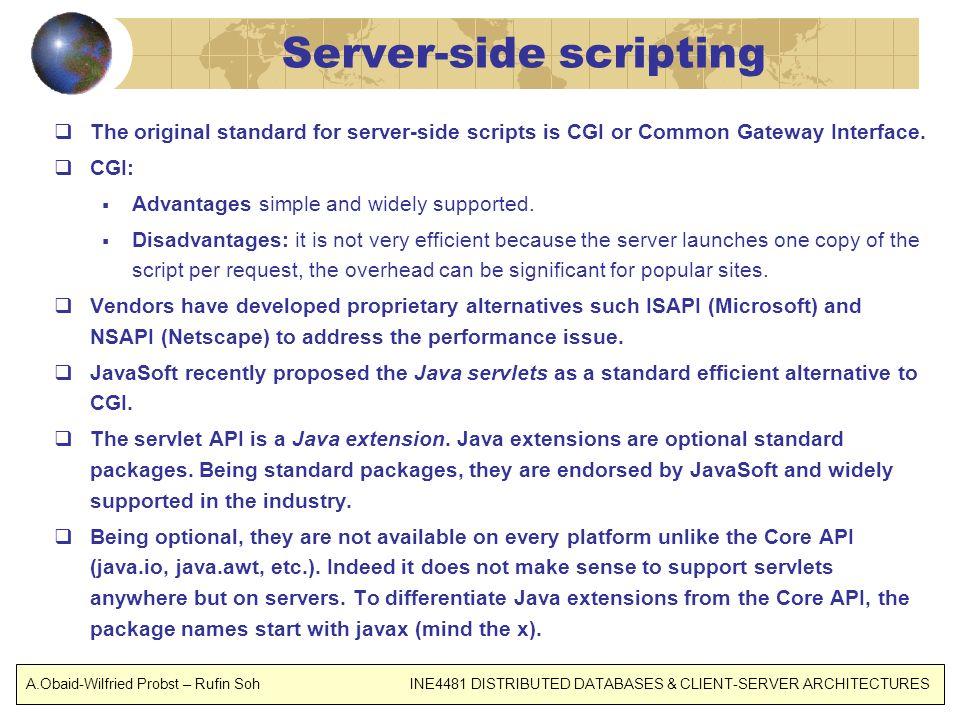 Server-side scripting