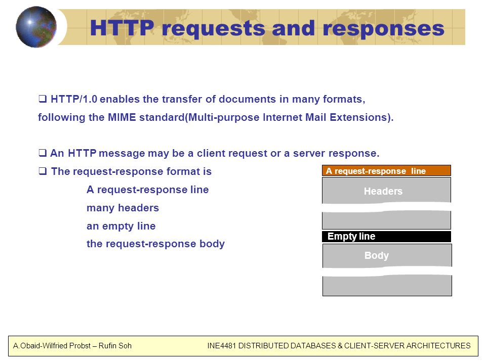 HTTP requests and responses