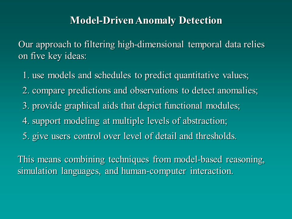 Model-Driven Anomaly Detection