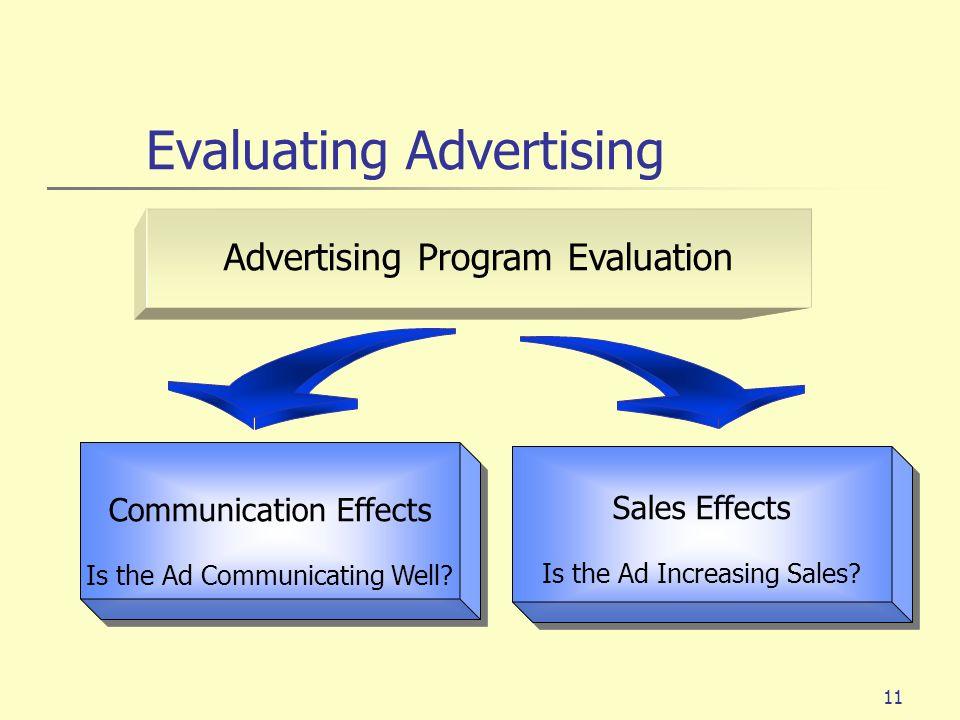 Evaluating Advertising