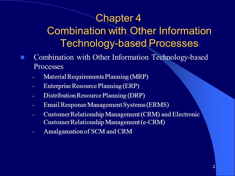 Chapter 4 Combination with Other Information Technology-based Processes