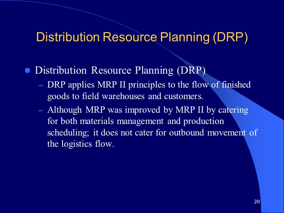 Distribution Resource Planning (DRP)