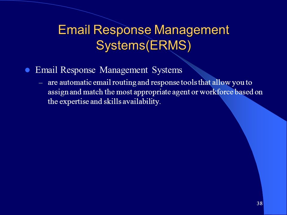 Response Management Systems(ERMS)