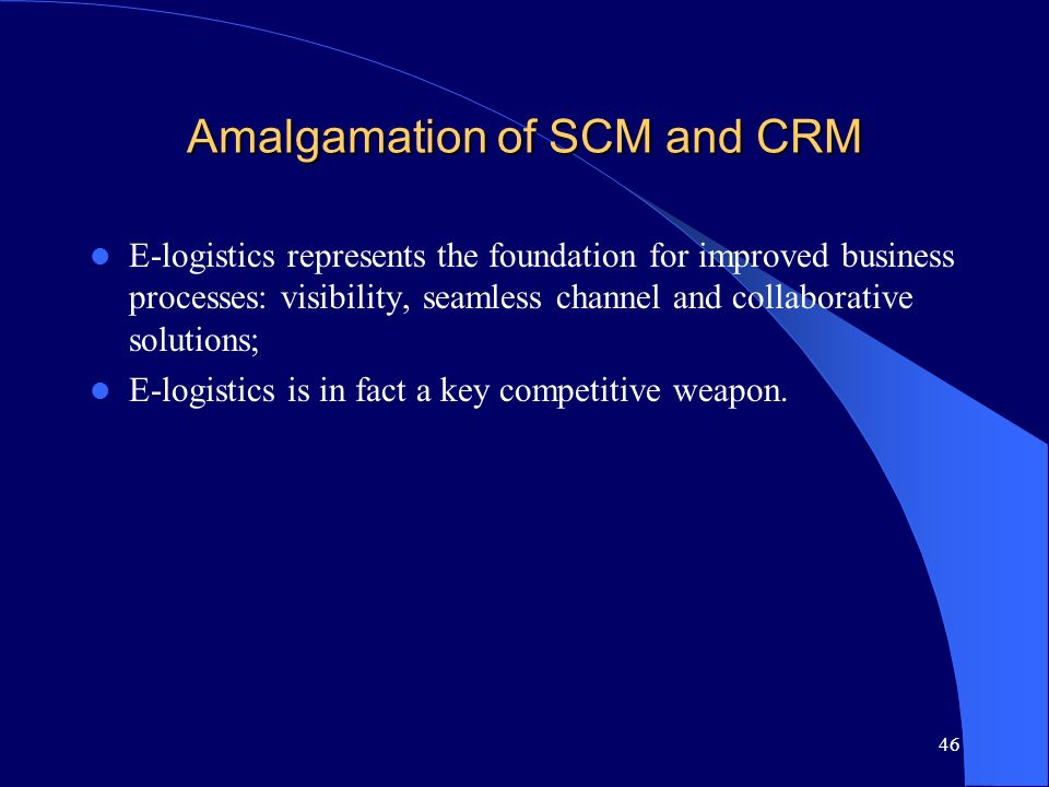 Amalgamation of SCM and CRM