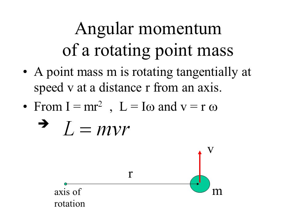 Angular momentum of a rotating point mass