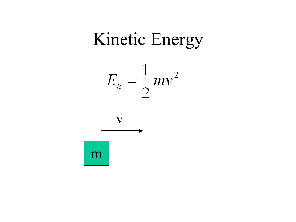 Kinetic Energy m v