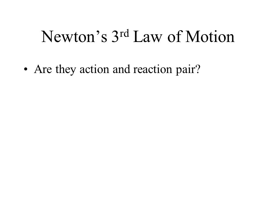 Newton's 3rd Law of Motion