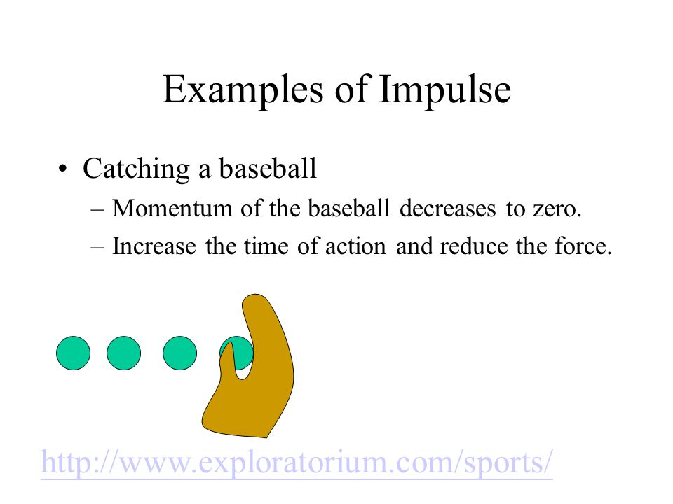 Examples of Impulse http://www.exploratorium.com/sports/