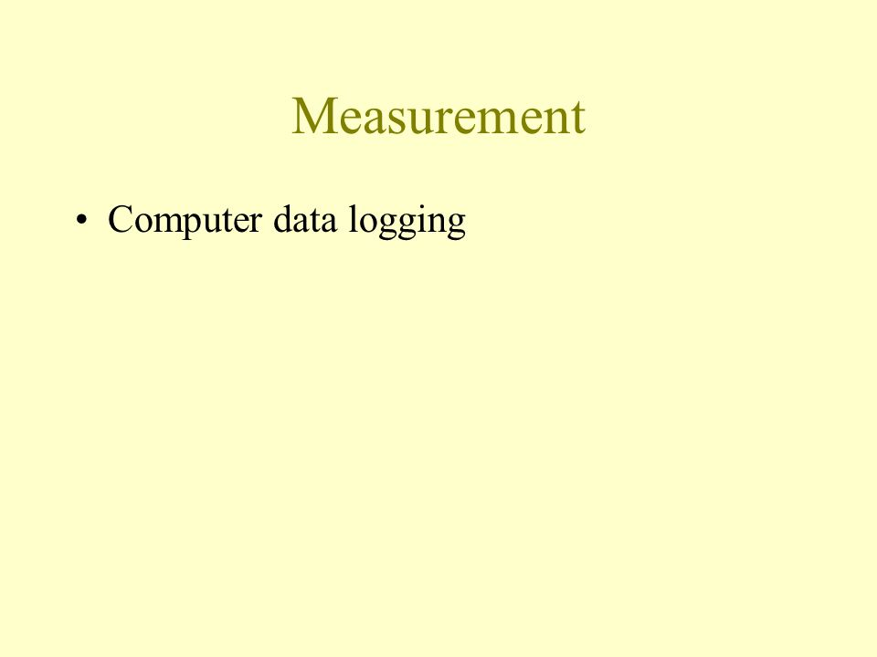 Measurement Computer data logging