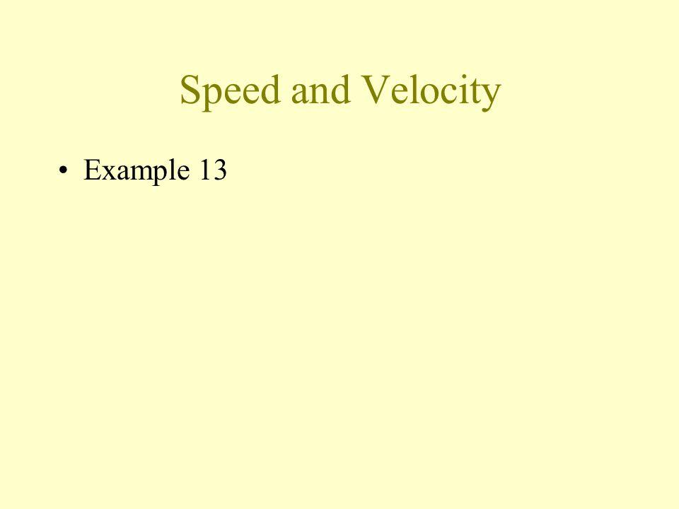 Speed and Velocity Example 13