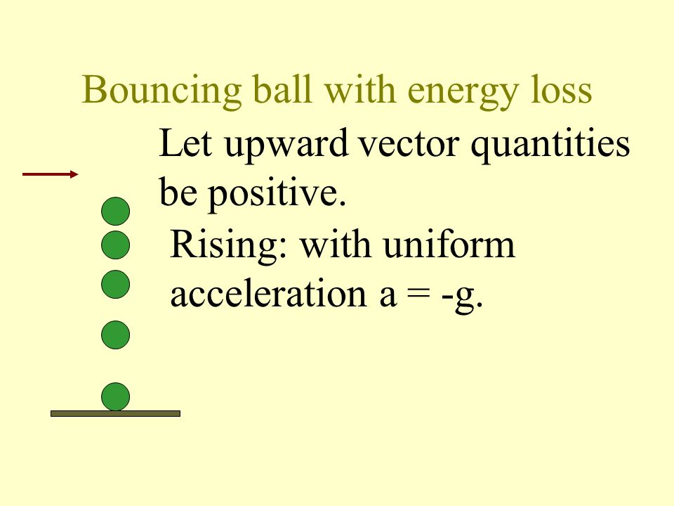 Bouncing ball with energy loss