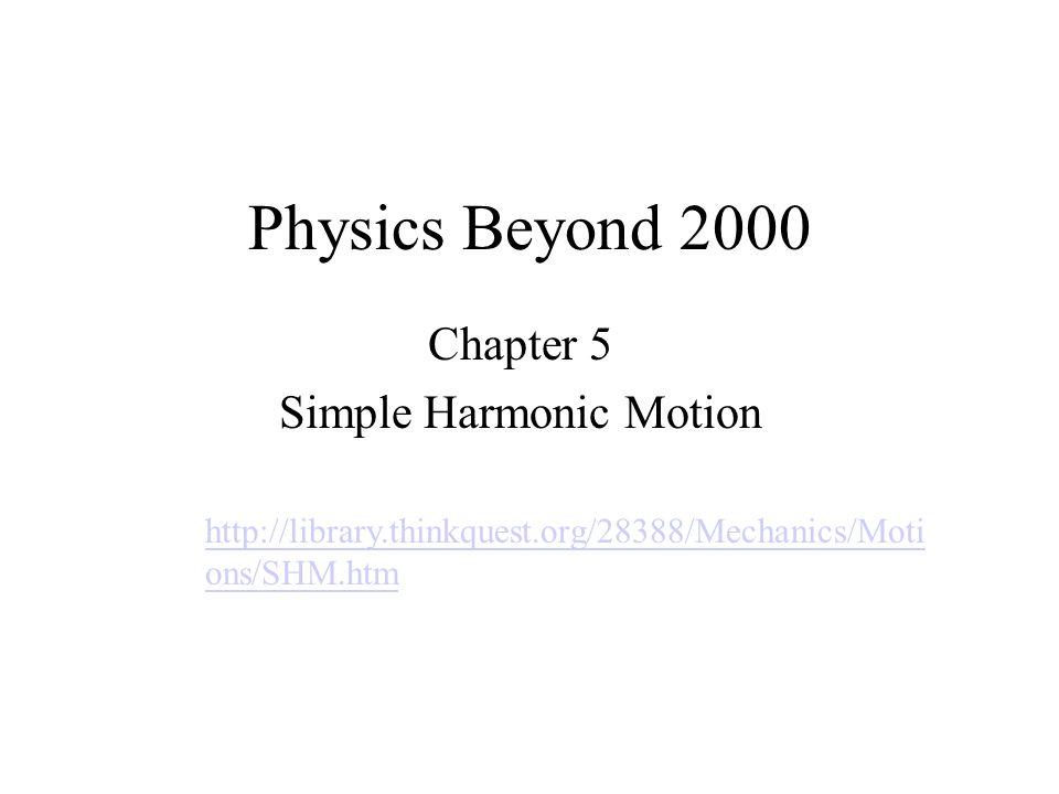 Chapter 5 Simple Harmonic Motion