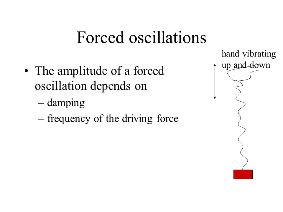 Forced oscillations The amplitude of a forced oscillation depends on