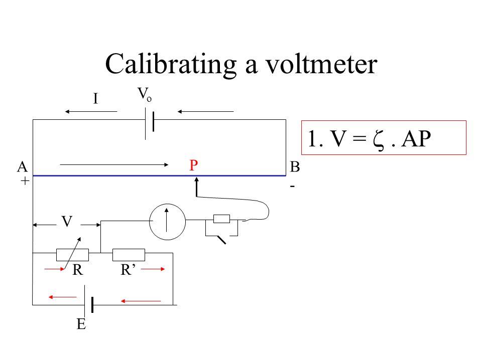 Calibrating a voltmeter