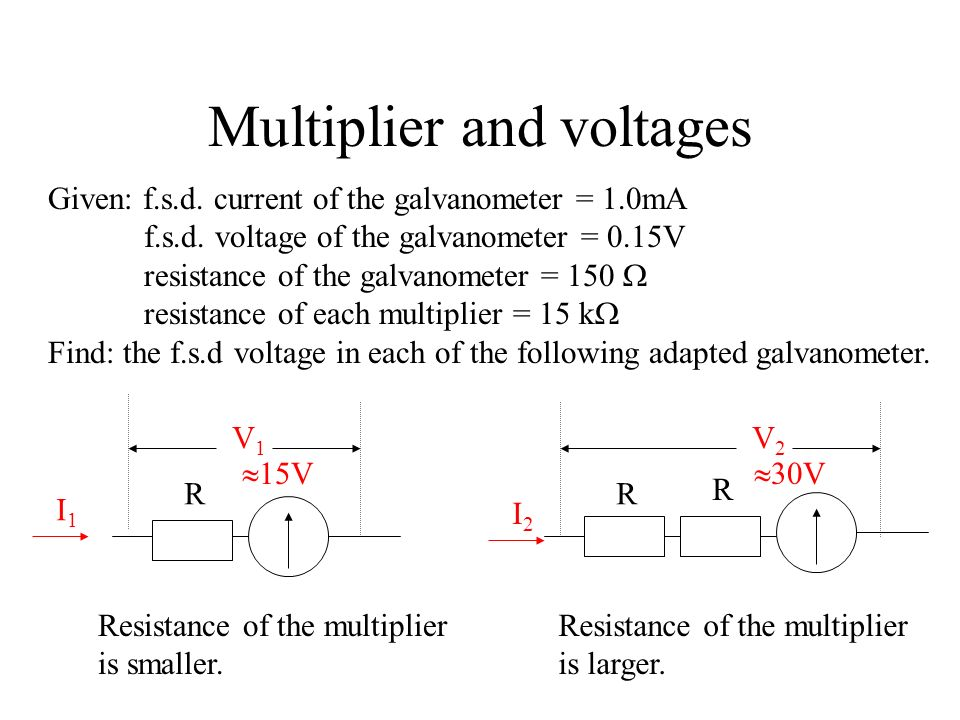 Multiplier and voltages