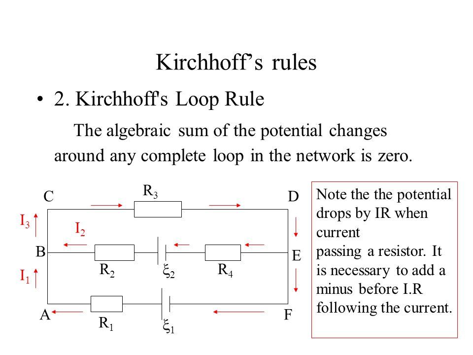 Kirchhoff's rules 2. Kirchhoff s Loop Rule