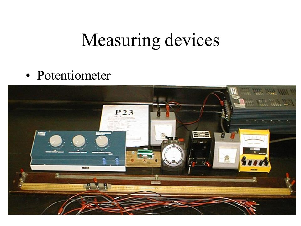 Measuring devices Potentiometer
