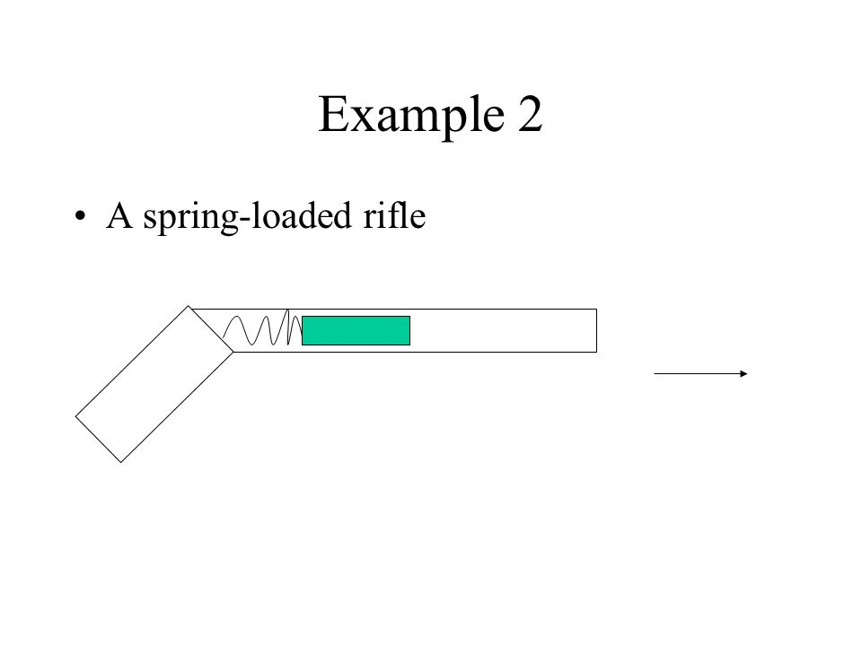 Example 2 A spring-loaded rifle
